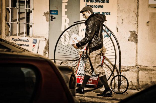 Rzadko spotykany bicykl - Łódż