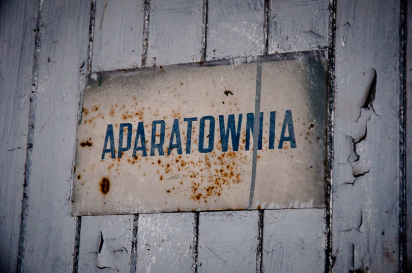 Gorzelnia Rolnicza w Łabiszynku - Aparatownia - Tabliczka informacyjna
