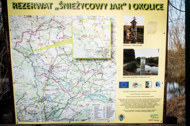 Rezerwat Śnieżycowy Jar i okolice - tablica informacyjna