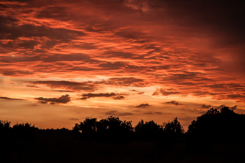 Wymysłowo - Zachód słońca