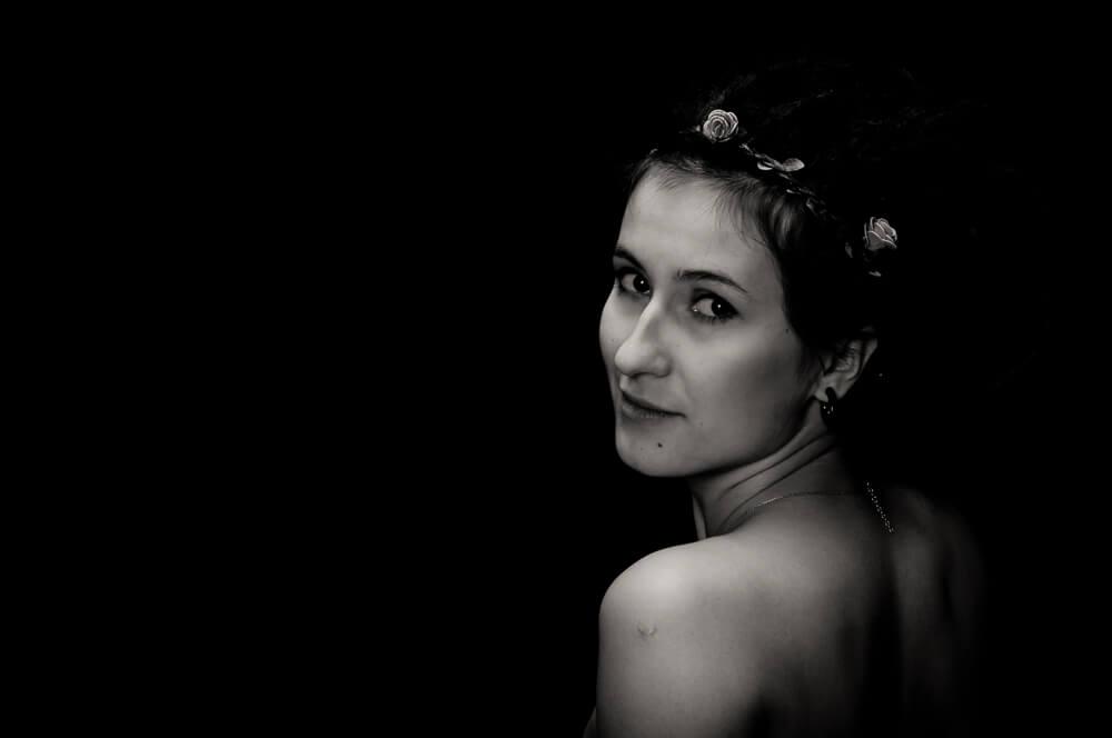 Agnieszka podczas sesji fotograficznej