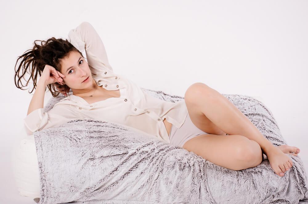 Agnieszka w roli modelki
