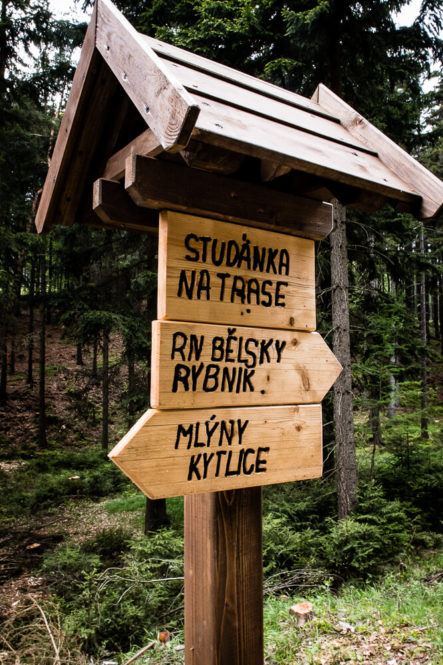 Park Narodowy Czeska Szwajcaria - drogowskaz