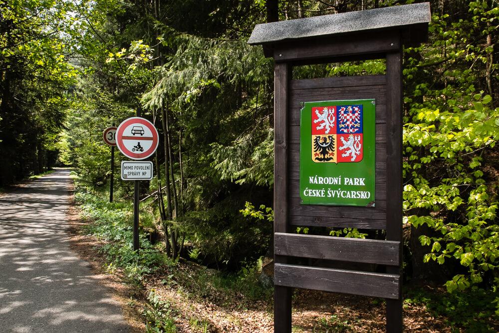 Park Narodowy Czeska Szwajcaria - wejście