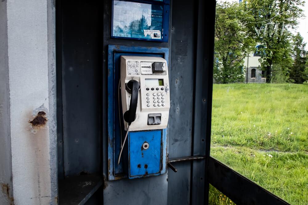 Rybniště - automat telefoniczny
