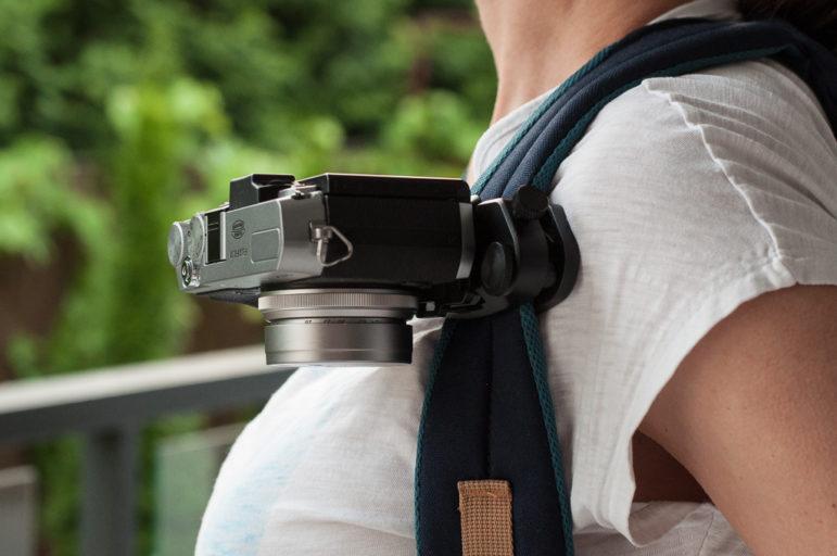 Camrock FastClip wraz z aparatem