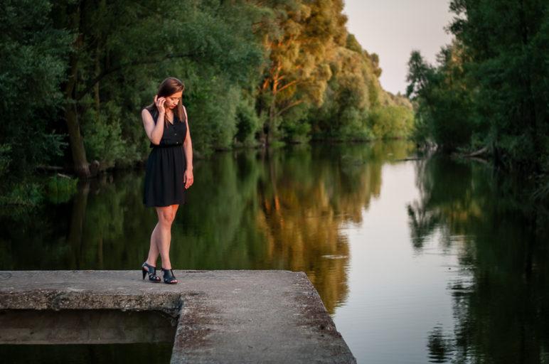 Sesja zdjęciowa nad Jeziorem Pakoskim
