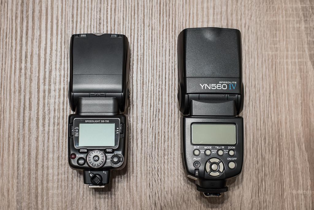 Wyzwalanie reporterskich lamp Speedlight SB-700 oraz Yongnuo Speedlite YN560 IV