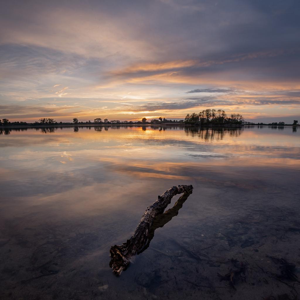 Jezioro Lednickie - zachód słońca
