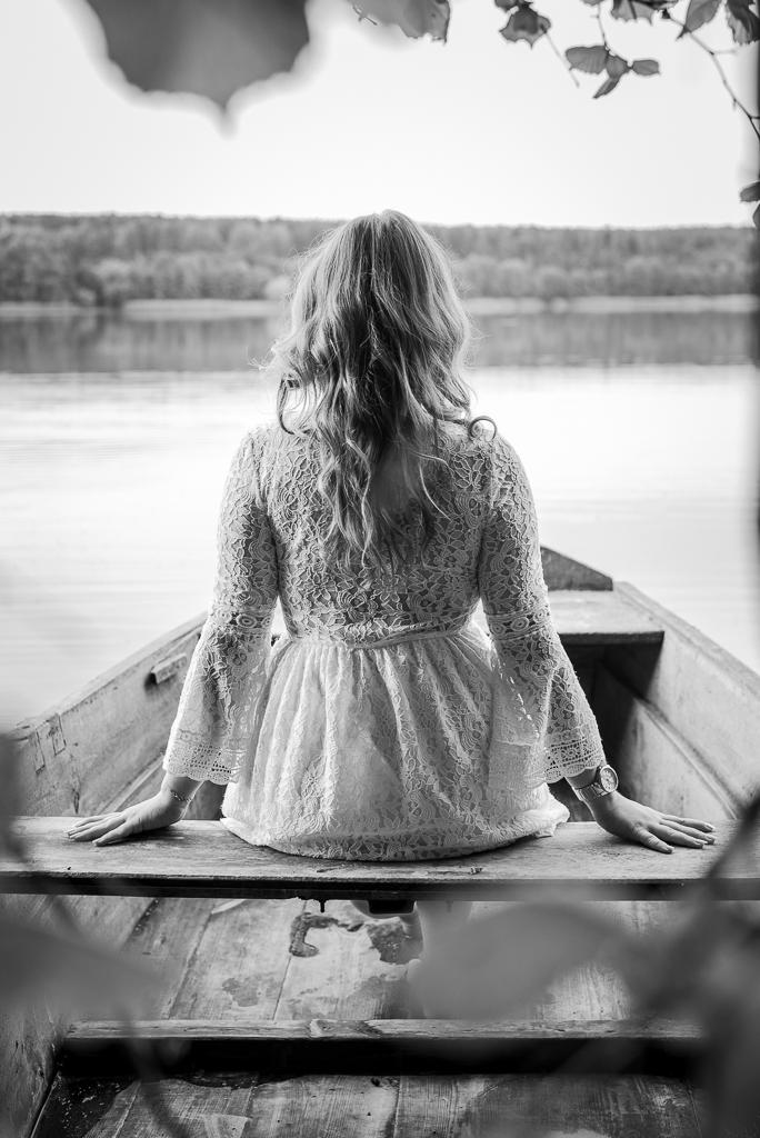 Jezioro Wierzbiczańskie - sesja zdjęciowa Klaudii